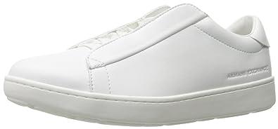 A X Armani Exchange Men s Hidden Shoe-Lace Fashion Sneaker, Optical White, a87ed99c35e