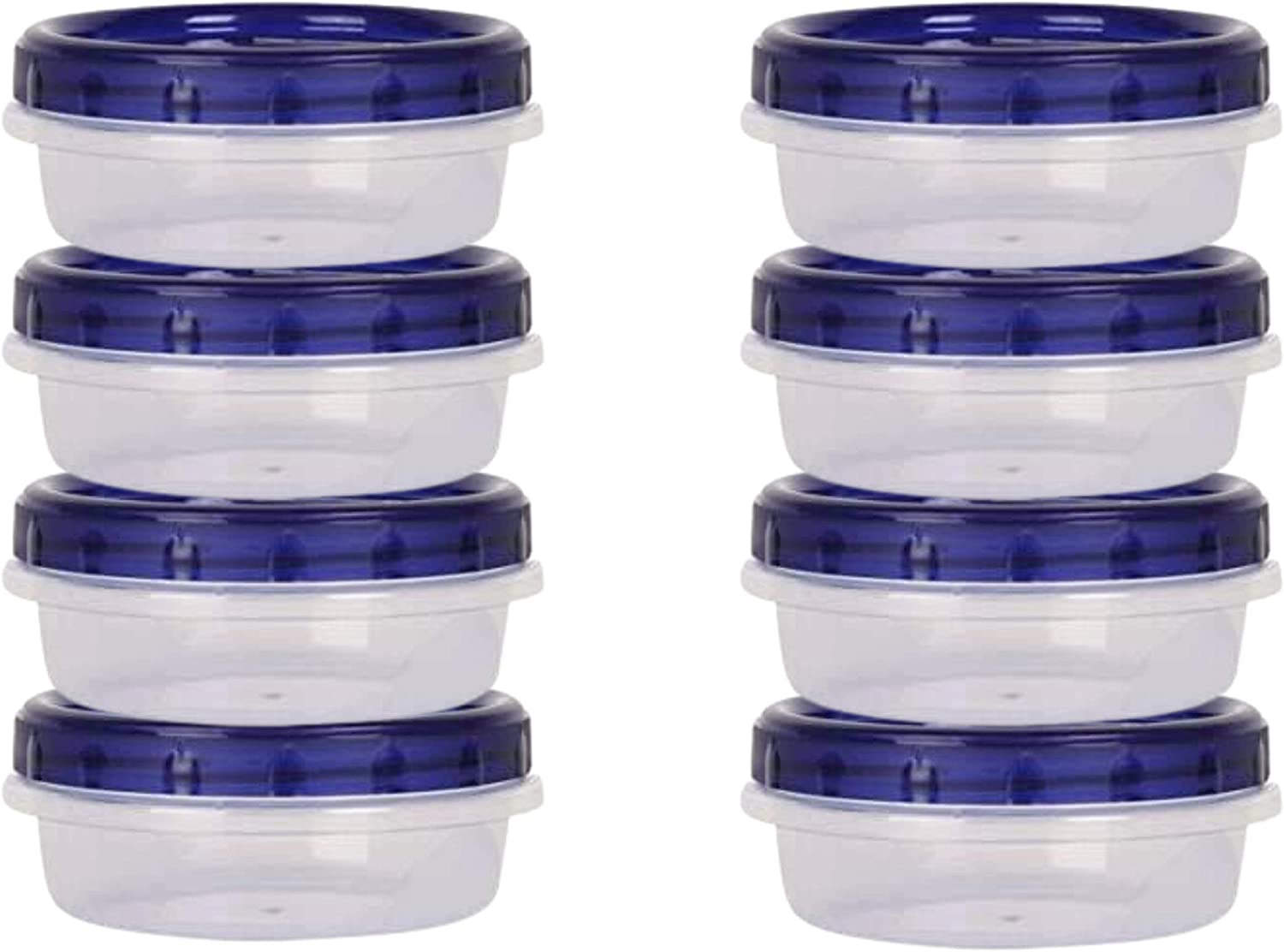 HomeyGear 8-Pack Twist Top Food Storage Containers | Leak-Proof, Airtight Soup Storage Canisters with Screw & Seal Lids | BPA-Free, Stackable, Reusable Kitchen Essentials | 8-Ounce