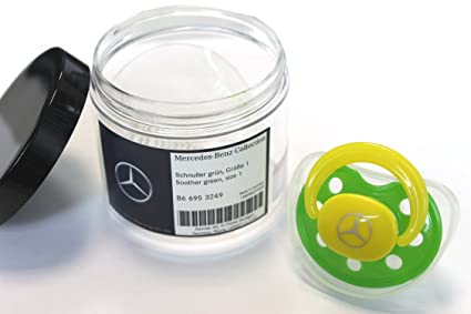 Original Mercedes Chupete b66953249 verde plástico silicona tamaño ...