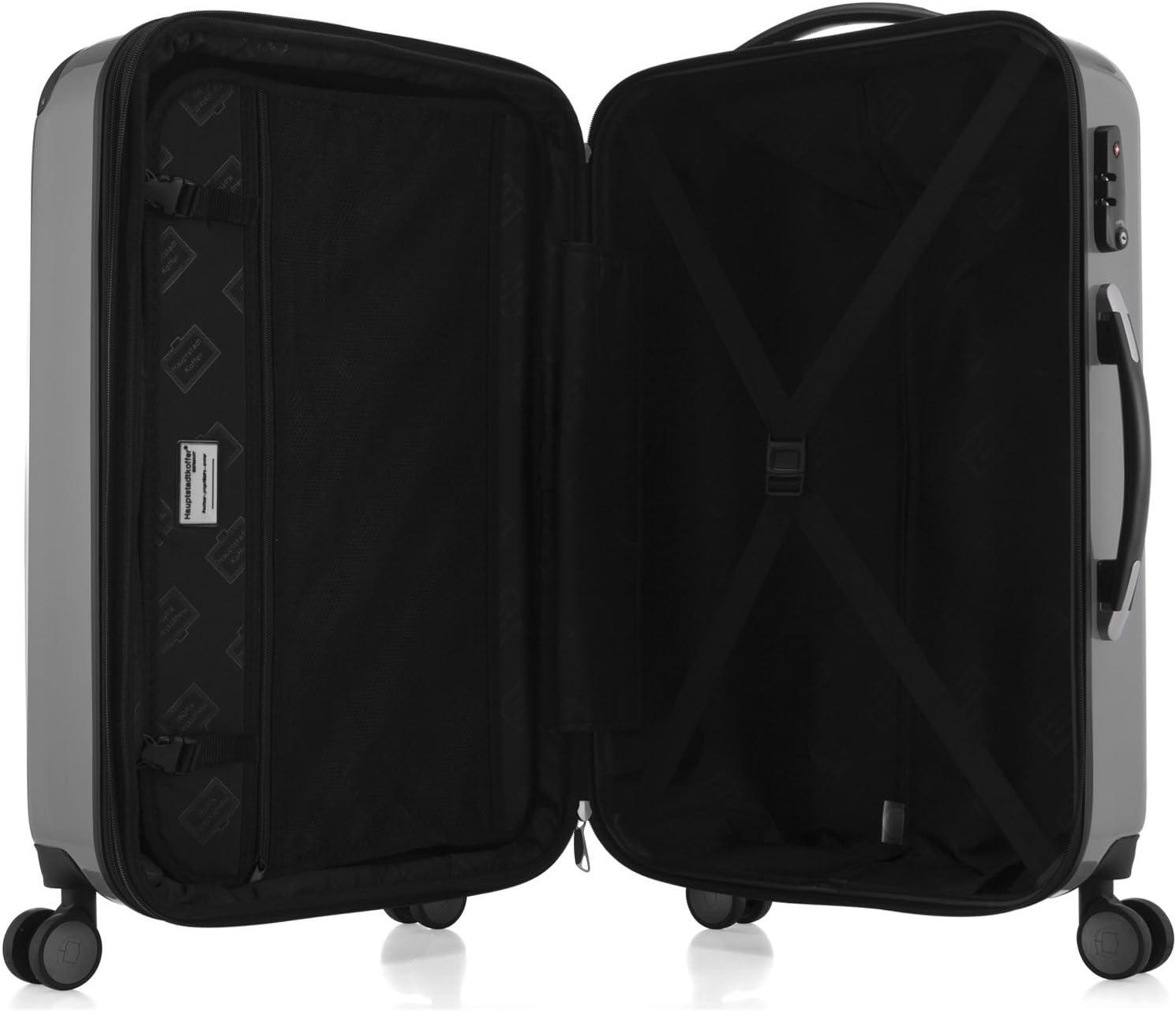 TSA HAUPTSTADTKOFFER Alex Luggages Set Double Wheel Hardside Suitcase Sets Glossy Trolley Expandable Burgundy 2028