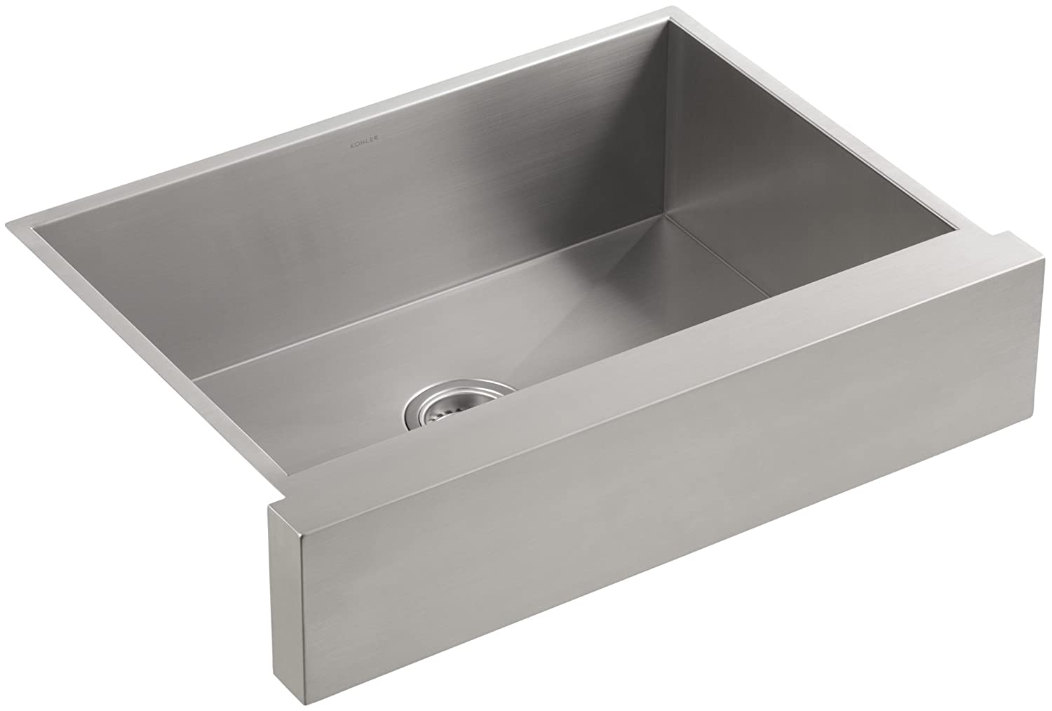 KOHLER Vault 30 Single Bowl 18-Gauge Stainless Steel Farmhouse Apron Front Undermount Kitchen Sink, K-3936-NA