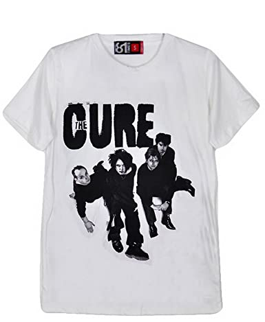 37684205c76a 81TSU185 The Cure Robert Smith Simon Gallup White Cotton Men T-Shirt (XL):  Amazon.co.uk: Clothing