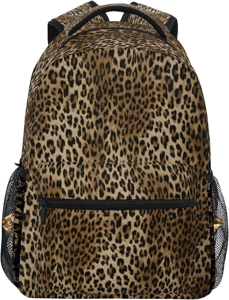 Leopard Print Travel Laptop Backpack Animal Skin Tiger Boy Girl Kids School Bag Bookbag 14 inch Laptop Backpack Camping Travel Outdoor Daypack Shoulder Bag