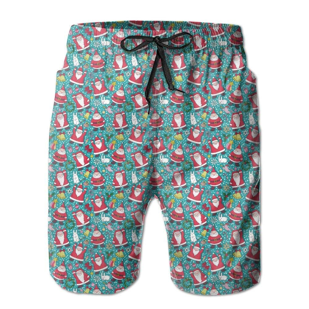 BBggyh Men Christmas Santa Swim Trunk Board Short Beach Shorts