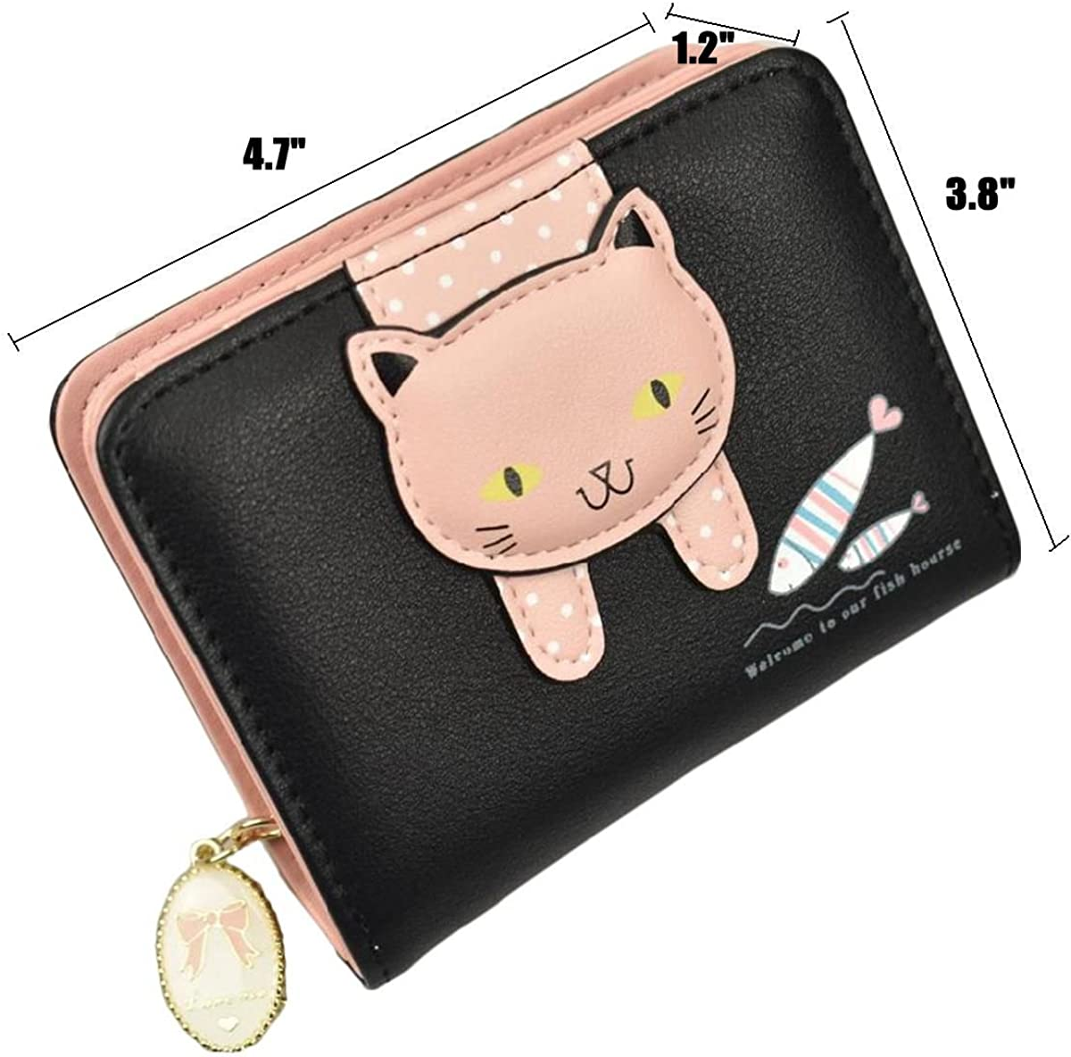 Cute Cartoon Pig Card Holder Portable Leather Credit Card Holder Bag Card Case