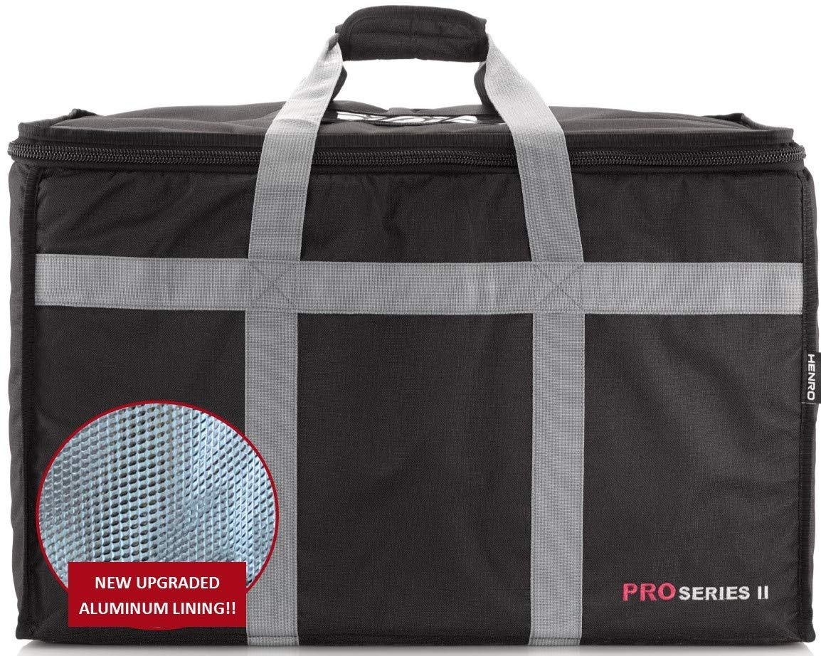 """Insulated Commercial Food Delivery Bag - Professional Hot/Cold Thermal Carrier - Large (23"""" x 14"""" x 15""""), Lightweight & Portable for Catering, Grocery Shopping or Parties & Holidays"""