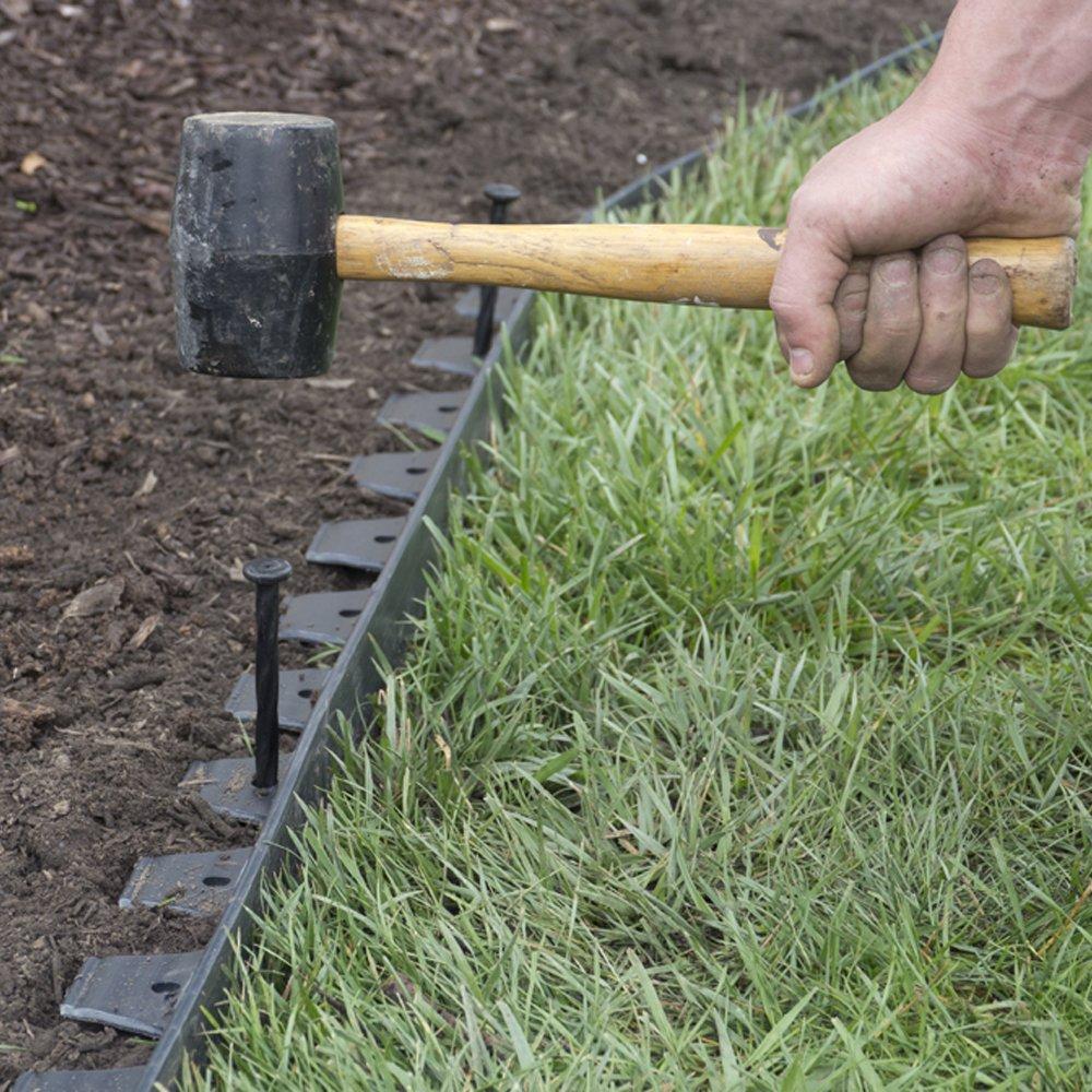 EasyFlex No-Dig Plastic Landscape Edging Kit 40Ft Lawn