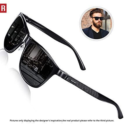 8e67e0d0b4 ROCKNIGHT Mens Driving Sunglasses for Women Sunglasses Polarized UV  Protection Metal Frame Cool Sunglasses Outdoor Casual