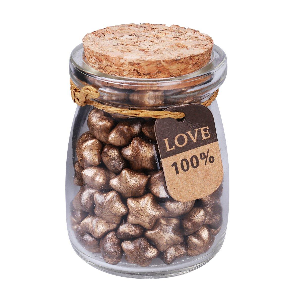 ROSENICE Set di perle di cera vintage sigillate a stella per confezione regalo 160 pezzi (Bronzo)