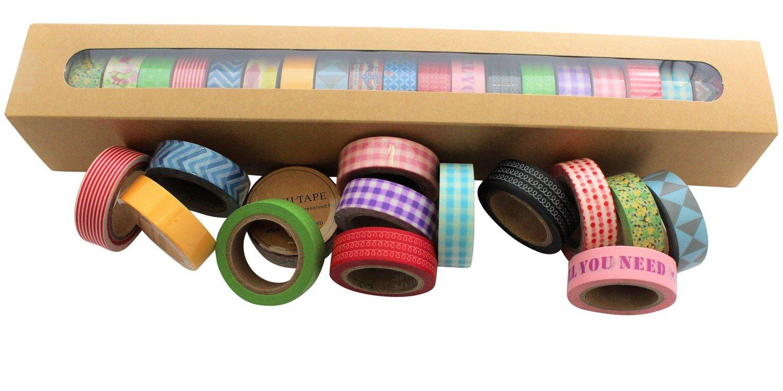 20rotoli di nastro washi Multidesigns decorative Paper tape 15mm x 10m Lau&Home