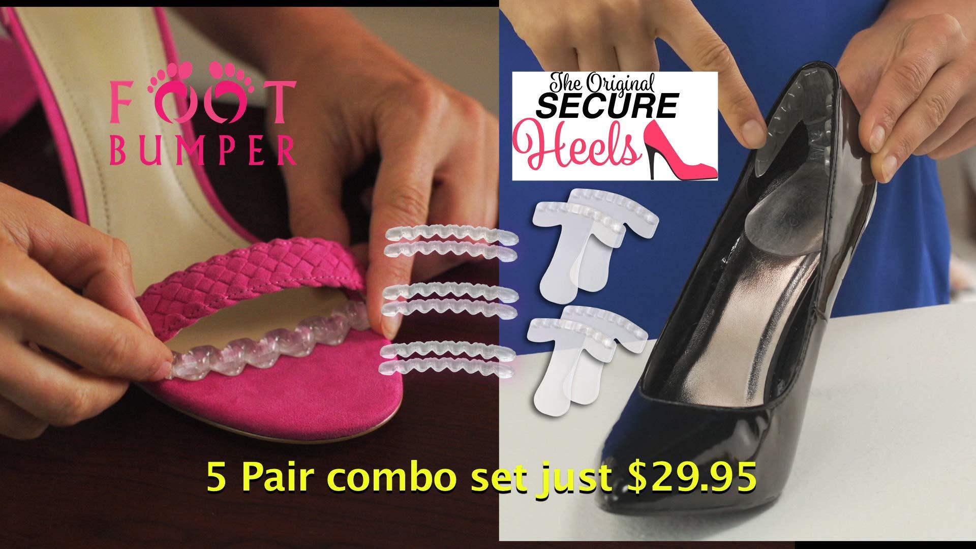 Foot Bumper & Secure Heels Comfort Solution. by SECURE HEELS