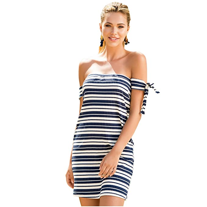 492b9f3c4173 Mapalé Womans Summer Dresses with Stripes Vestidos Playeros De Rayas ...