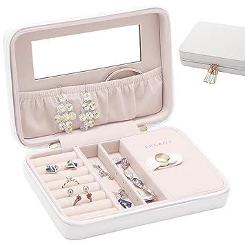 Amazoncom Small Jewelry Box Portable Travel Jewelry Case Organizer