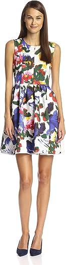 Gracia Women's Floral Print Scuba Dress