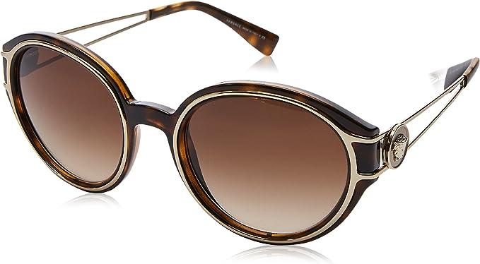 Versace lunettes de soleil fort v à la Havane pâle or VE4342 10813 53