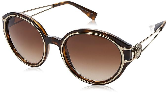 Versace 0Ve4342, Gafas de Sol para Mujer, Havana/Pale Gold ...