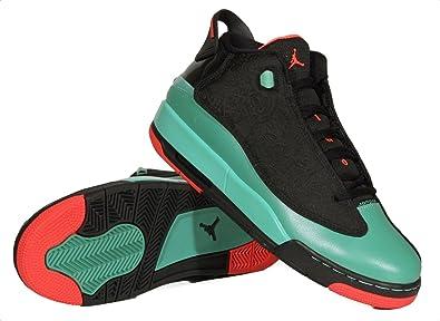 Nike Girls Air Jordan Dub Zero GG Black Infrared 23 Verde Basketball Shoes 4Y
