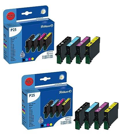 2 x Pelikan Promo Pack P25 4109941 Cartuchos de Tinta para Epson ...