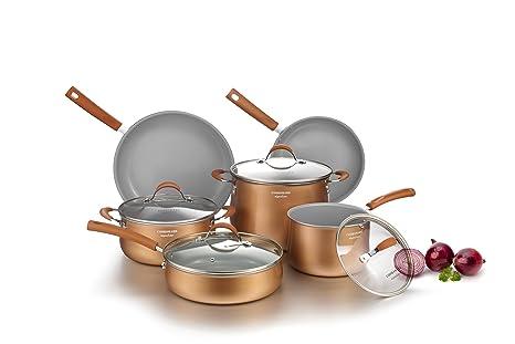 COOKSMARK Induccion Juegos de sartenes y ollas bateria de cocina juego ollas cazuela vitroceramica antiadherente de