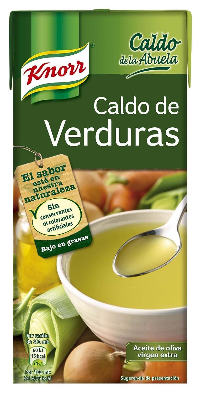 Knorr Caldo Líquido de la Abuela de Verduras - 1000 ml - [Pack de 6]: Amazon.es: Alimentación y bebidas