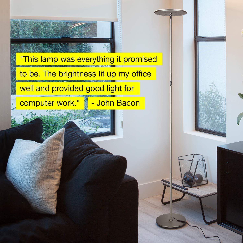 Brightech Sky 30 Flux LED Torchiere Floor Lamp Dimmable /& Adjustable Color Temperature- Modern Tall Standing Pole Uplight Lamp Light -Living Room Dark Bronze Dorm Energy Saving Bedroom /& Office