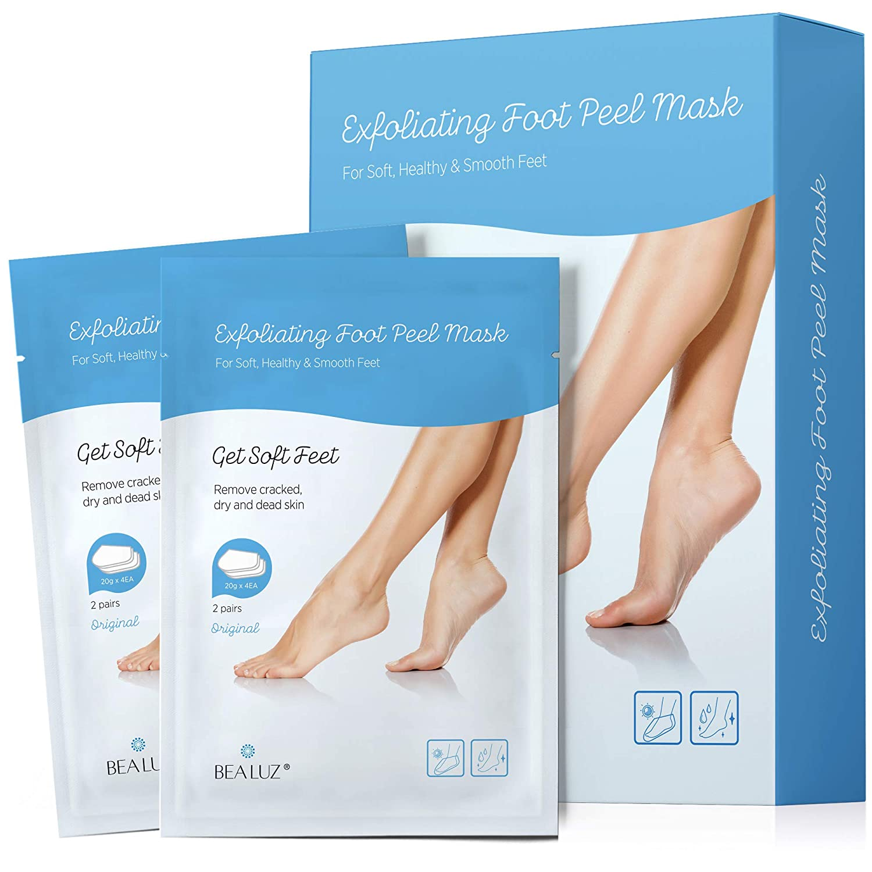 Amazon.com: Evagloss Foot Peel Mask -1 Pair Exfoliating Foot Peel Mask & 2  Pairs Moisturizing Foot Mask, Peeling Away Calluses and Dead Skin cells, ...
