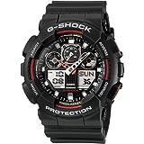 カシオ CASIO G-SHOCK Gショック ジーショック 腕時計 メンズ GA-100-1A4DR ブラック×レッド [時計] 逆輸入品