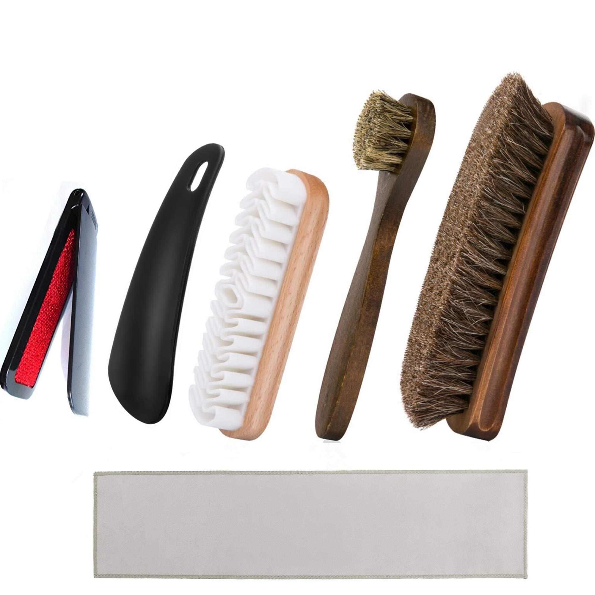 Kit de cepillo para zapatos y valet con cerdas suaves de cri