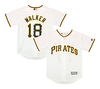 3a68e4fc662 Outerstuff Neal Walker Pittsburgh Pirates White Youth Cool Base Home  Replica Jersey (Large 14