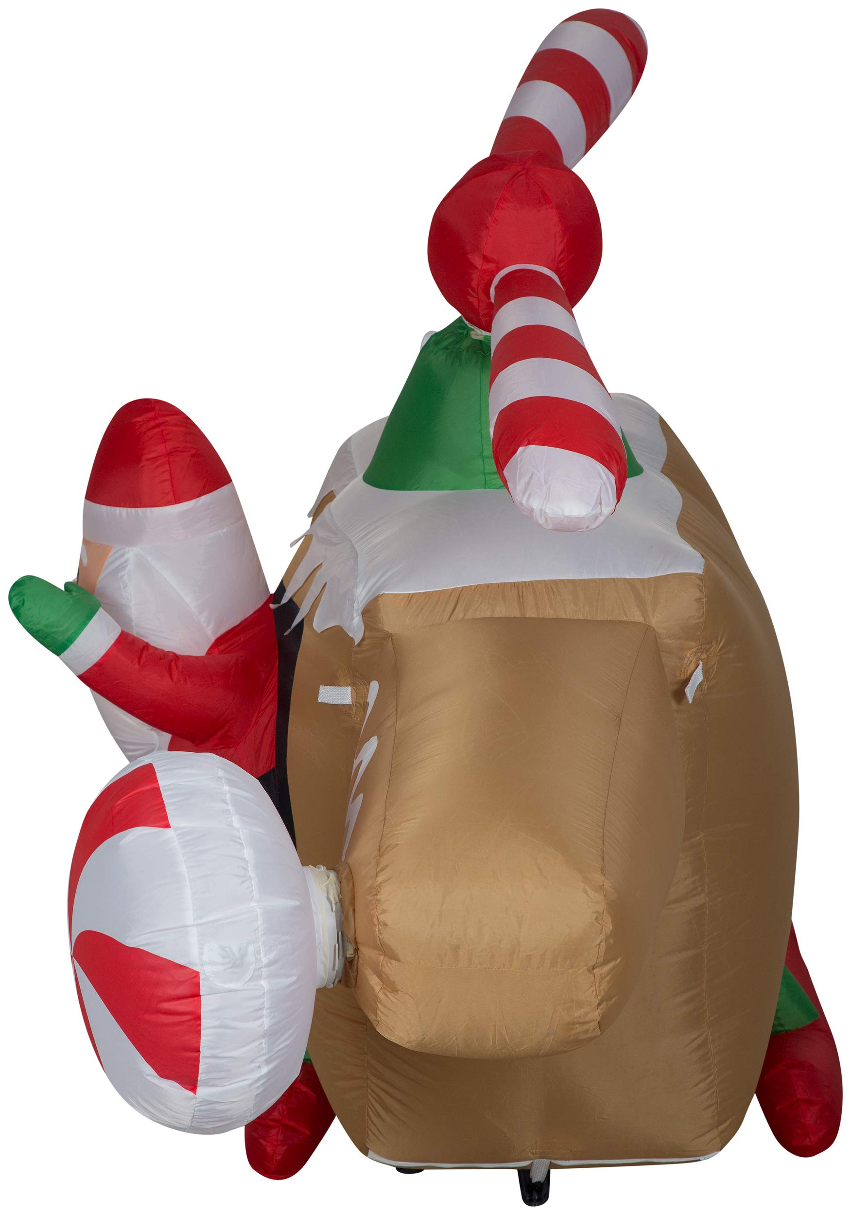Gemmy 36678 Animated Airblown Gingerbread Helicopter Christmas Inflatable 4FT TALL x8 FT LONG