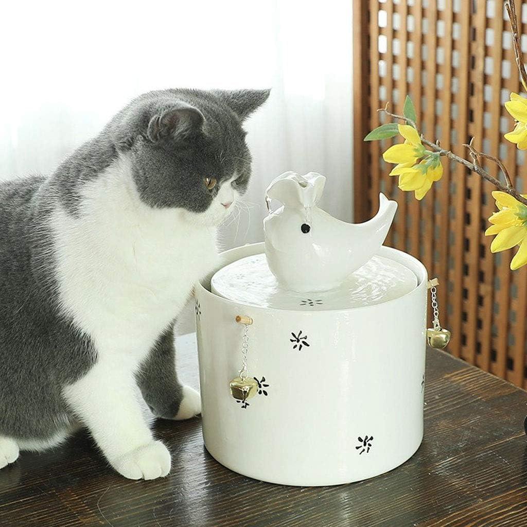 Bebedero Gatos, Fuente Silencioso para Gatos 2.5L Bebedero Automático Fuente De Agua para Mascotas Gatos Perros (Color : White): Amazon.es: Productos para mascotas
