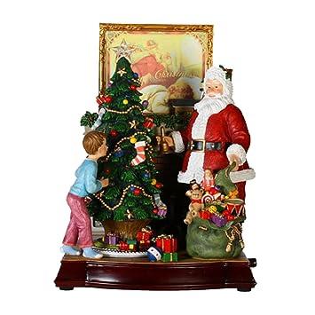Amazon.de: 30, 5 cm ANIMIERT und Musical Santa Claus mit ...