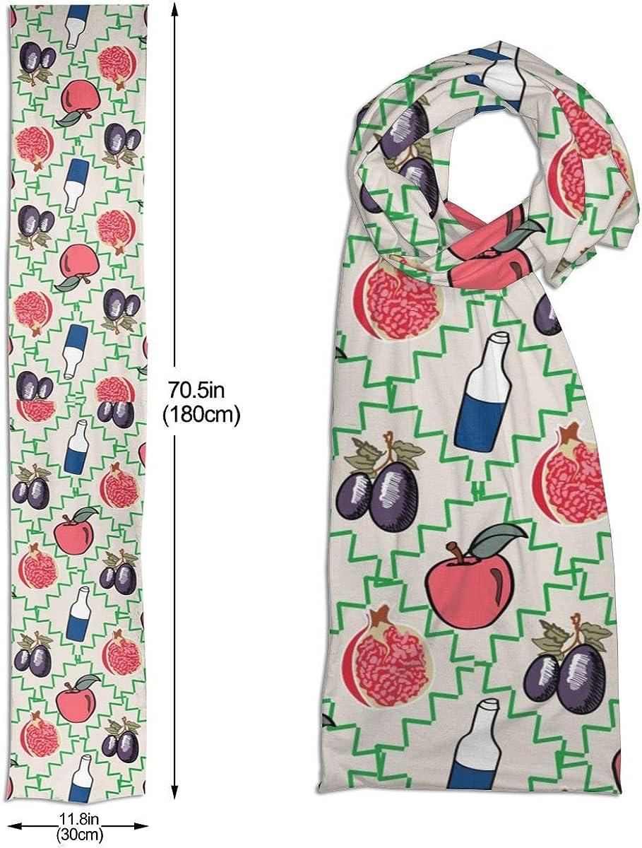 Winter Scarf Fruit And Drink Premium Imitation Cotton Fibre Unique Design Scarves Unisex