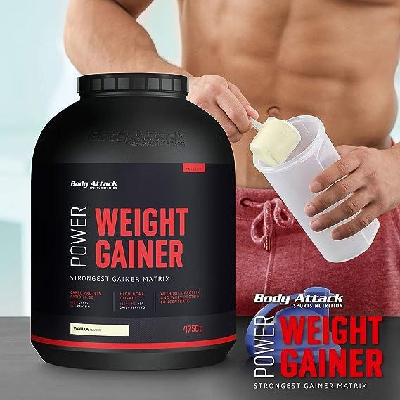 Body Attack Power Weight Gainer (aumento de peso), galletas ...