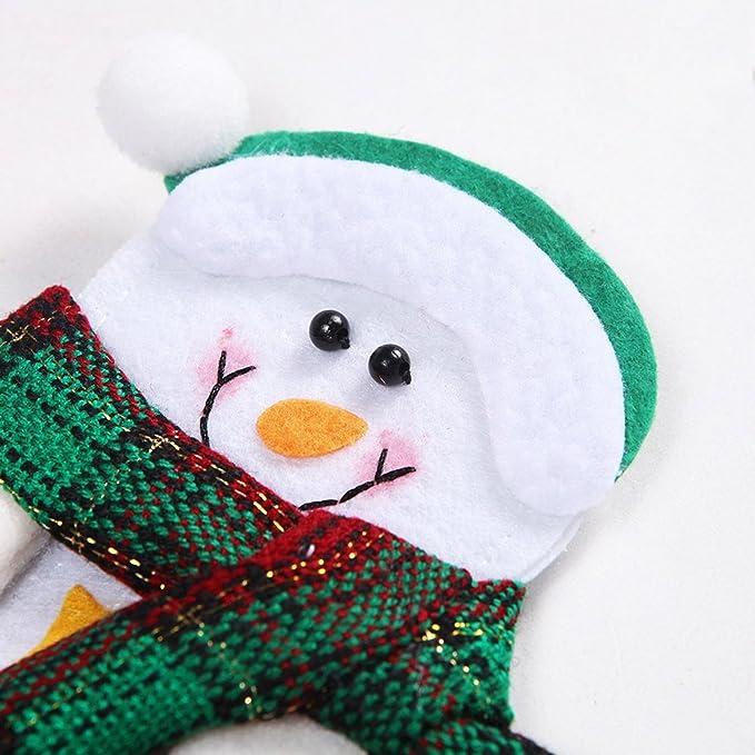 Lucklystar® Bolsillos para Cubiertos Navidad Bolsa de Cuchara el Diseño de Navidad Juego de Cena Decoración Navidad1PCS: Amazon.es: Jardín