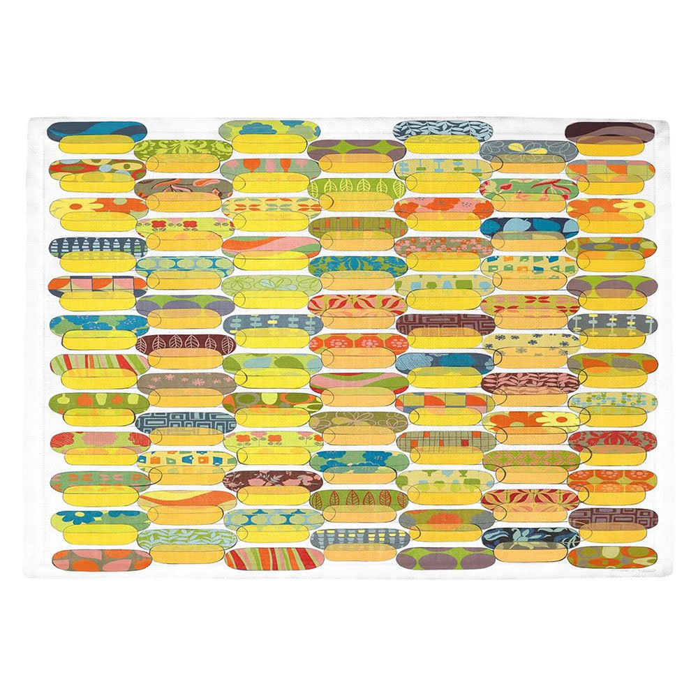 DIANOCHEキッチンPlaceマットby Marci Cheary Ovals Set of 4 Placemats PM-MarciChearyOvals2 Set of 4 Placemats  B01EXSI5VA
