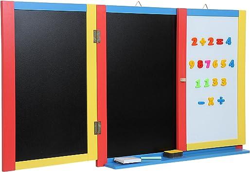 Infantastic - Pizarra plegable de pared para niños (con muchos ...