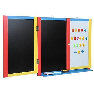 Infantastic - Pizarra plegable de pared para niños (con ...