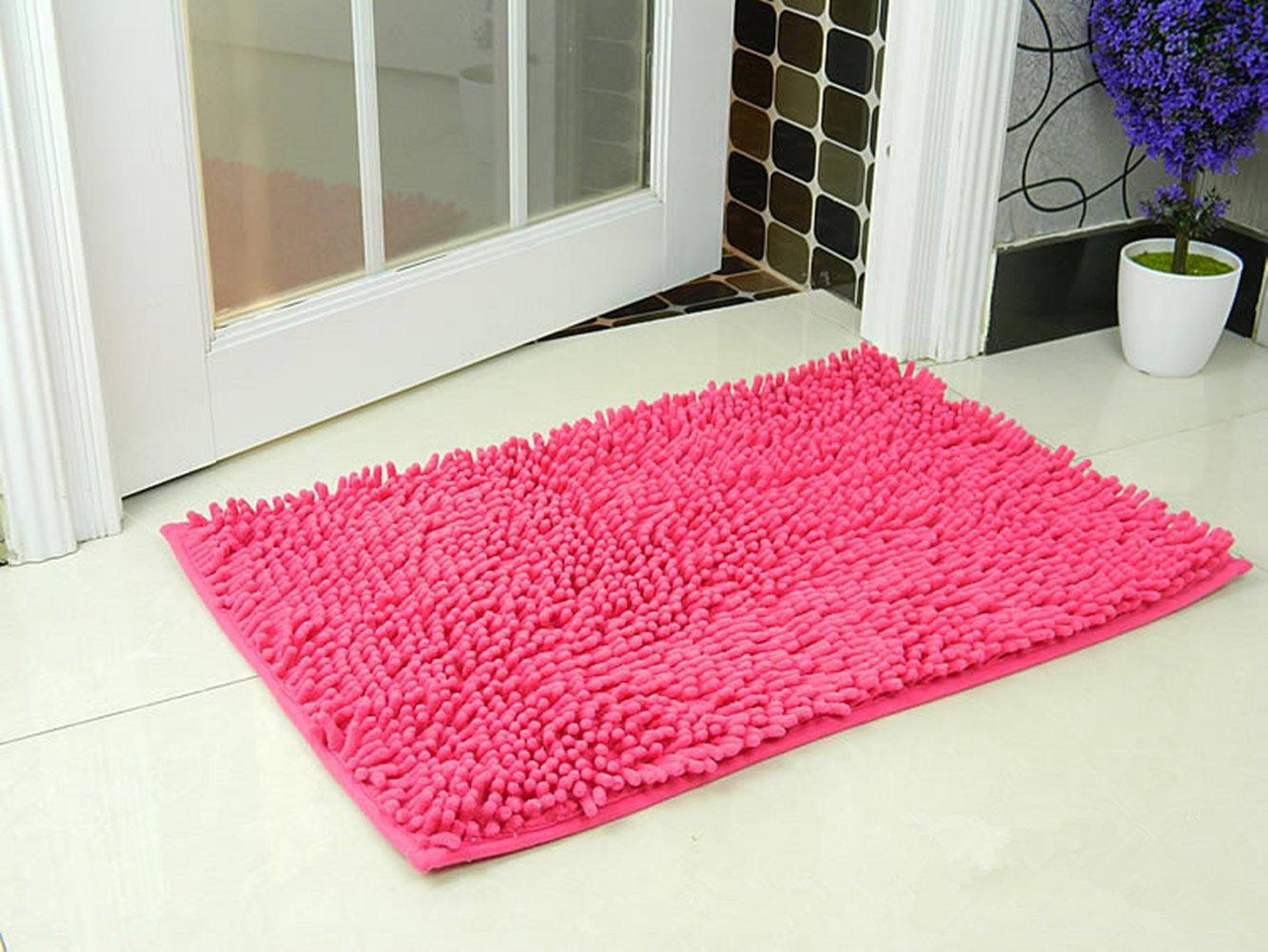 Chenille Anti-Rutsch-Bequeme Super saugf/ähiger weicher Duschteppich Dusche Teppich Badematte Bad Teppich DOTBUY Bad-Teppiche 40 * 60cm, Orange