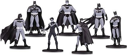 Batman Mini Figuras De Pvc Blanco Y Negro Serie 1 7-Pack DC Coleccionables