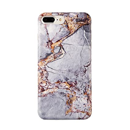 iphone 7 plus case marble gold