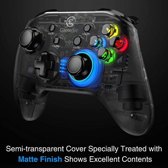 Amazon.com: GameSir T4 PC Controller Wireless Wired Game Controller Four Configurable Buttons for Windows 10/8.1/8/7 Dual Shock Game Gamepad: Electronics
