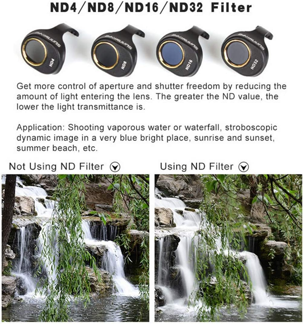 Haweel 3 in 1 HD Drone Camera ND8 /& CPL /& UV Lens Filter Set for DJI Spark Lens Filter