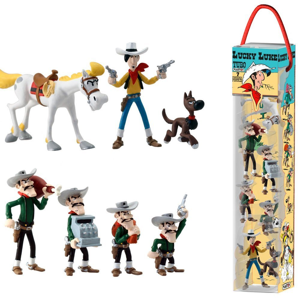 Plasplug Toy SAS pla70387/Lucky Luke: Tube 7/figuras parte