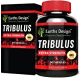 Tribulus Terrestris Supplement- 1300mg High Potency Bulgarian Tribulus Extract With 45% Saponins - For Men & Women - Suitable For Vegetarians - 90 Capsules (45-Day Supply) by Earths Design