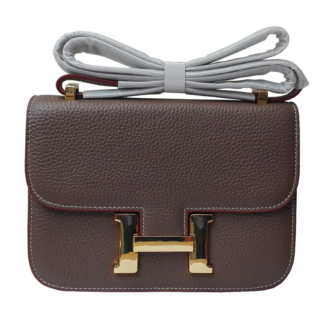 F.BLUE Genuine Leather Lady's Shoulder Bag Cowhide Women's Crossbody's Bag FB066 (Kaki)