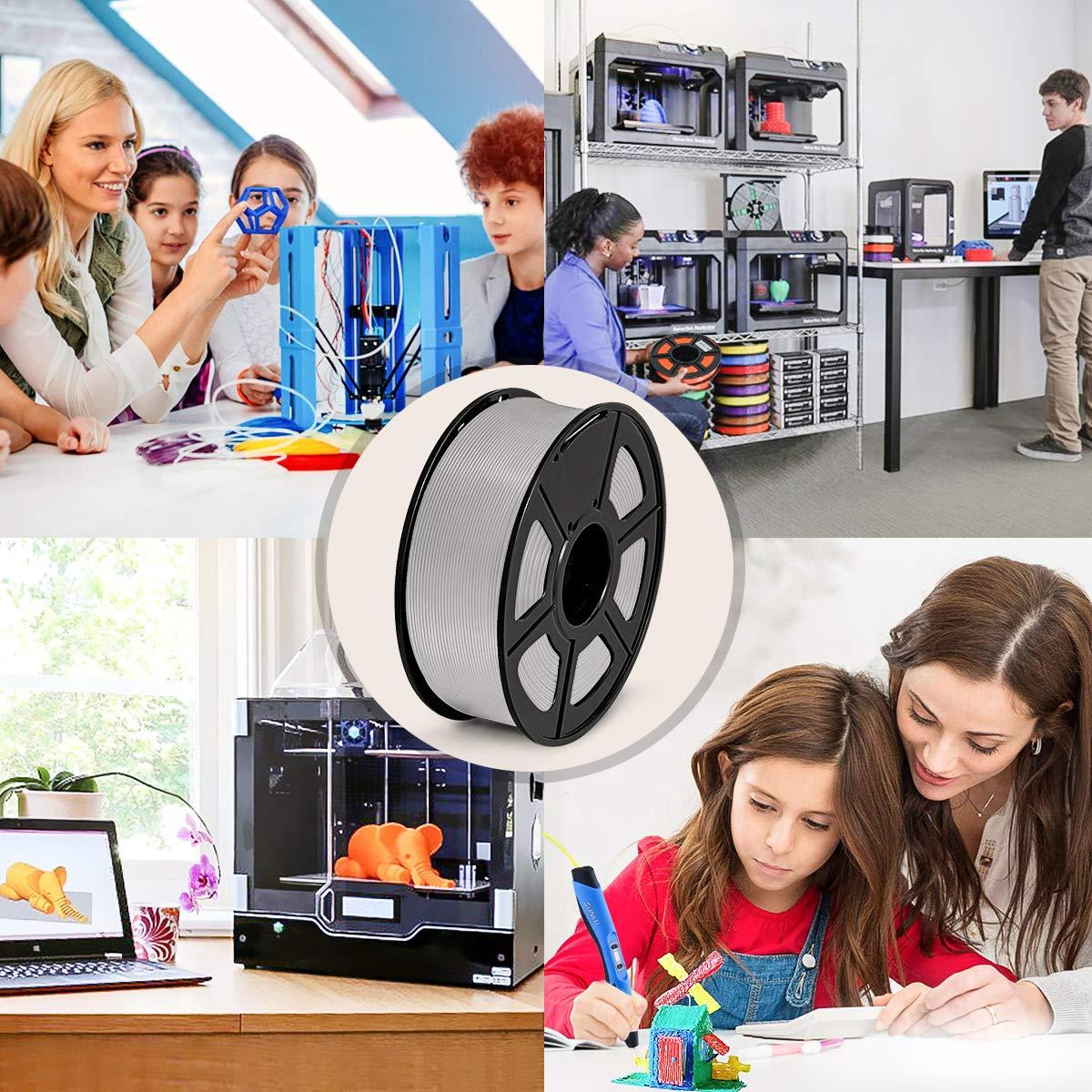 // ABS Negro Precisi/ón Dimensional 0.02 mm SUNLU Filamento ABS 1.75mm 1kg Impresora 3D Filamento