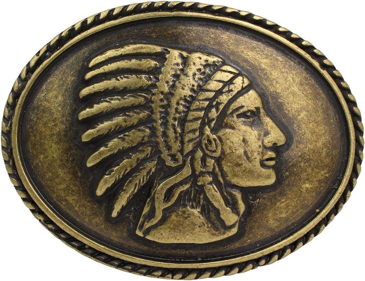 und Western-Outfit Buckle Wechselschlie/ße G/ürtelschlie/ße Reitaccessoires 40mm Massiv f/ür Reit Brazil Lederwaren G/ürtelschnalle Indianer 4,0 cm