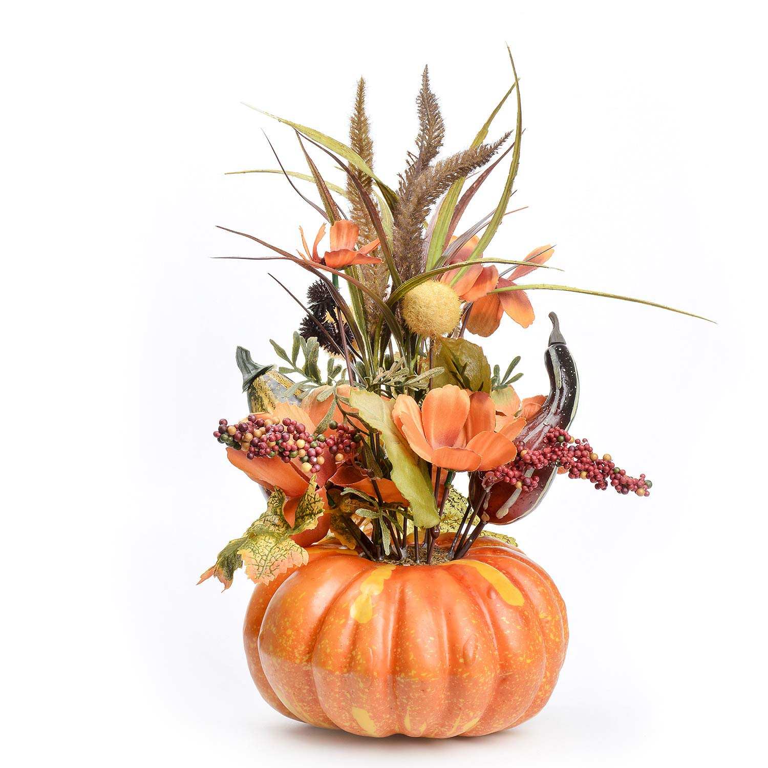 FAVOWREATH Vitality Series FAVO-W128 Handmade 14 inch Pumpkin Vine Halloween Supplies for Fall Festival Front Door/Wall/Fireplace Every Day Nearly Natural Home Hanger Decor