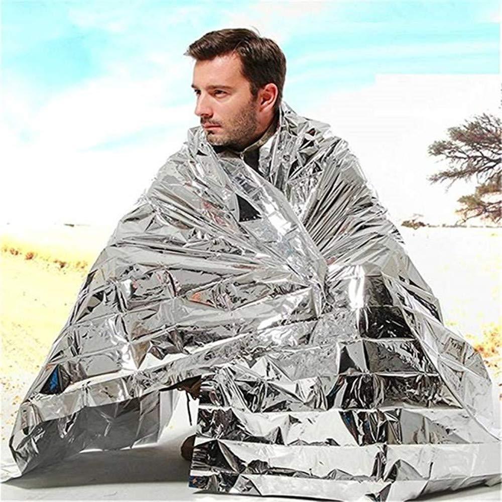 GAOYI Tentes d'urgence, imperméables, pour Les Premiers Secours, Le Camping, Les randonnées, l'imperméabilisation de Polyester de Grande Taille et jusqu'à 90% des couvertures Thermiques(210 * 130cm) imperméables YJT